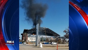 Fire at under construction Globe Life Field now contained; cause being investigated