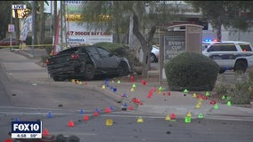 18-year-old man, teen's unborn baby killed after car goes onto sidewalk following collision