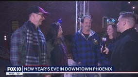 Locals celebrate New Year's festivities in downtown Phoenix