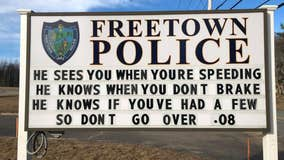 Viral police sign shares clever warning to drunk drivers during the holiday season