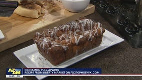 Cinnamon pull-apart bread for Christmas morning with Liberty Market