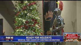 Medieval Times shows off Christmas decorations