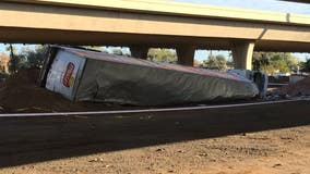 DPS: Interstate 10 reopens at Interstate 17 after semi truck falls