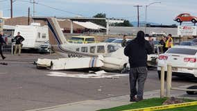 Small plane lands in neighborhood near I-17 and Deer Valley Road