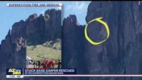 Base jumper rescued off Superstition Mountains