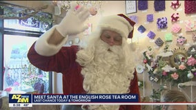 Meet Santa at the English Rose Tea Room