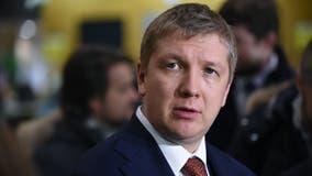 Ukrainian gas chief, Andriy Kobolyev, meets with prosecutors probing Giuliani