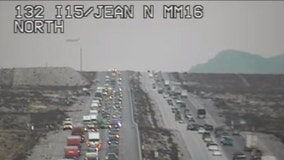 Las Vegas to California traffic backup tops 20 miles