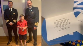 Norwegian Cruise Lines sends birthday party goodies for cruise-line 'obsessed' boy with autism
