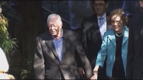 Jimmy Carter, Rosalynn make welcome return to Georgia church