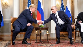 Russian President Vladimir Putin thanks President Trump for helping foil terrorist acts in Russia