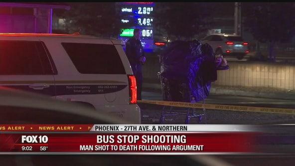 Man shot near a bus stop in Phoenix after a fight breaks out