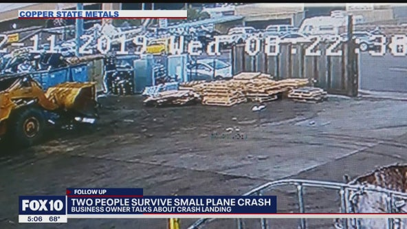 Workers near plane crash scene recount the terrifying experience