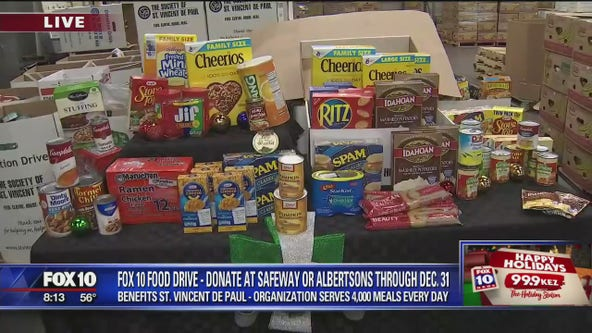 FOX 10 Holiday Food Drive: Donate at Safeway or Albertsons through Dec.31
