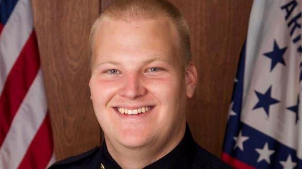 Officials: Slain Arkansas police officer 'ambushed' in patrol vehicle