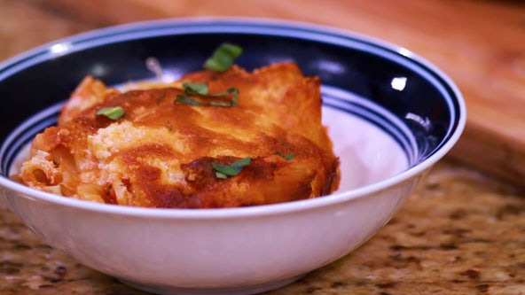 Recipe: Baked ziti with crab