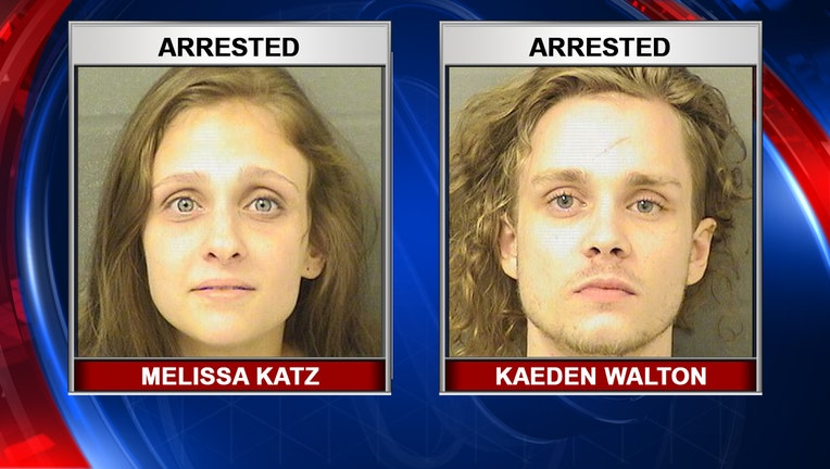 Booking images for Melissa Katz and Kaeden Walton