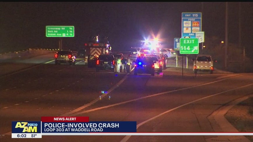 Surprise Police officer injured in crash during traffic stop near L-303 and Waddell