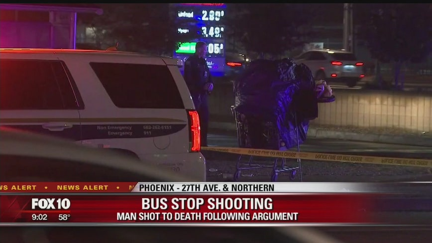 Man shot near a bus stop in Phoenix after a fight breaks out