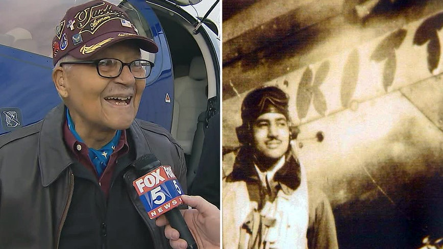 Tuskegee Airman from Bethesda celebrates 100th birthday with a flight