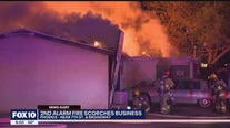 No one injured after 2nd-alarm fire burns Phoenix business