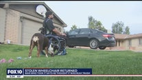 Man who took wheelchair from front yard thought it was 'bulk trash'