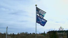 'Trump 2020' flag sparks debate over resident's rights to fly political flags any time of the year