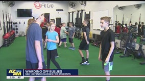 Valley fitness center teaching self-defense to students in order to combat bullying