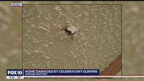 Apache Junction home damaged by celebratory gunfire