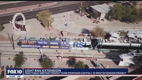 Public meeting held over proposed light rail expansion into the West Valley