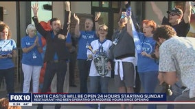 White Castle will be open 24 hours starting January 12