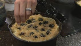 Cast iron skillet recipe: Chicken pot pie, blackberry ginger cobbler