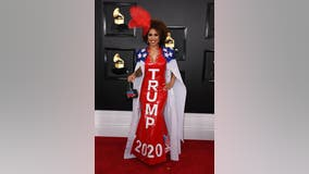 Joy Villa wears pro-Trump gown to Grammys: 'Impeached and re-elected'