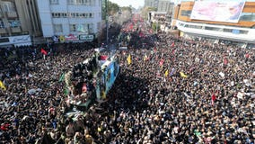 Stampede kills 56 at funeral procession for Iran general killed by US