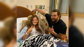 'Greatest part of being Aquaman': Jason Momoa visits children's hospital in Pennsylvania