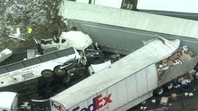 Investigators say bus passed truck before Turnpike wreck killing 5
