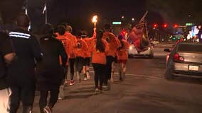 Valley high school students take part in touch run to honor Martin Luther King's memory