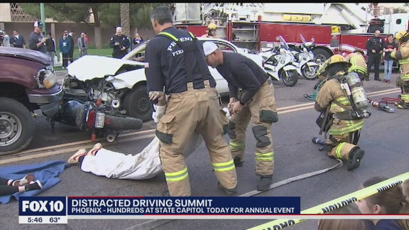 Hundreds gather at the Arizona State Capitol for annual distracted driving summit