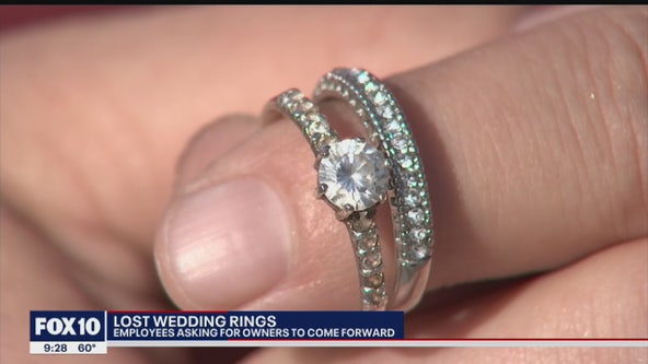 Authorities search for the owner of a wedding ring left on a Denny's bathroom counter