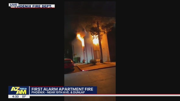 No injuries following 1st-alarm apartment fire in Phoenix