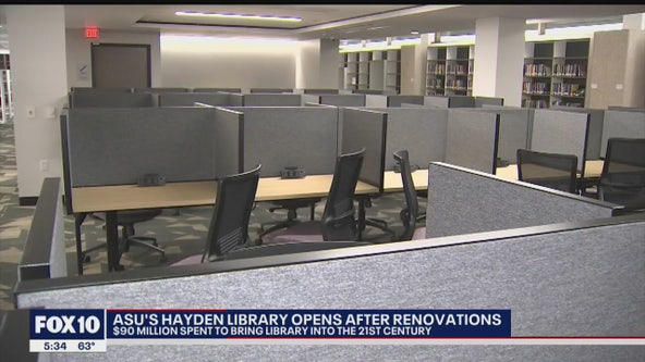 Hayden Library at ASU's Tempe Campus reopens after $90M renovations