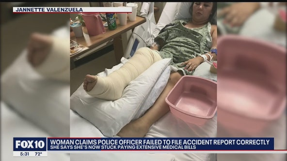 Phoenix Police officer accused by Valley woman of failing to file accident report correctly