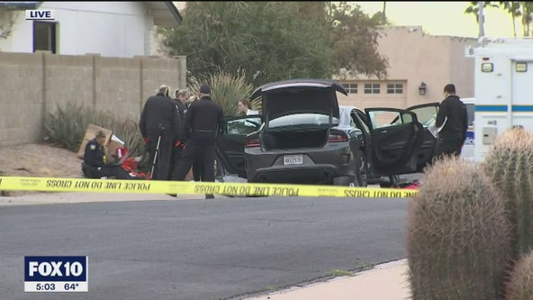 PD: Man found dead inside shot-up car in Phoenix