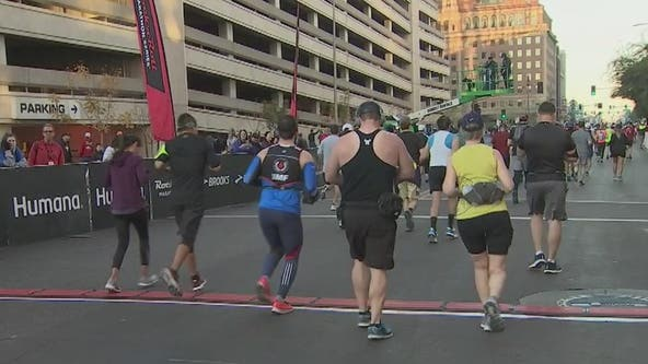 Thousands race in Rock 'N' Roll Marathon