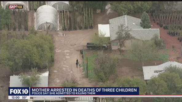 Police: Mother arrested, admits to killing 3 children at South Phoenix home