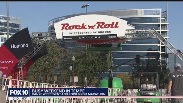 Tempe braces for busy weekend with Rock n Roll Marathon and Kanye West event