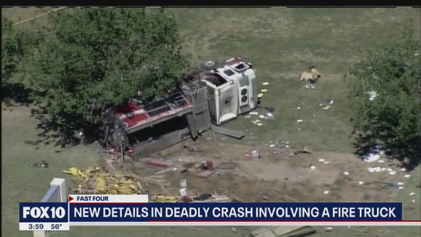 New details in deadly crash involving Phoenix Fire Dept. truck