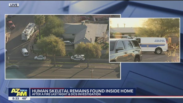 PD: Human remains found inside Phoenix home after fire