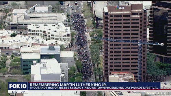 Thousands honor life, legacy of Martin Luther King Jr. in downtown Phoenix on MLK Day