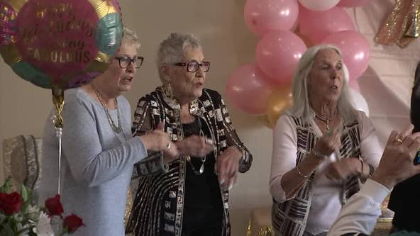 With family and friends, Valley woman celebrates 105th birthday